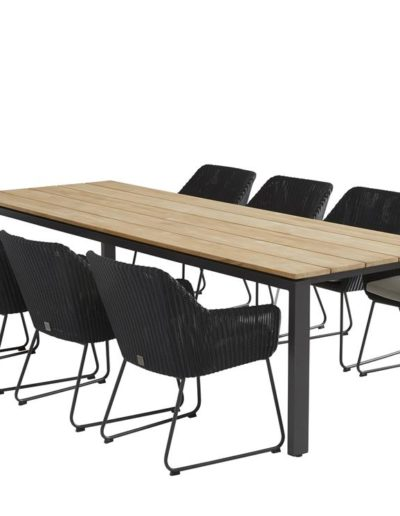 213356-19616-19617_-Avila-dining-set-Polyloom-anthr-with-Goa-table-teak-280x95cm (Copy)