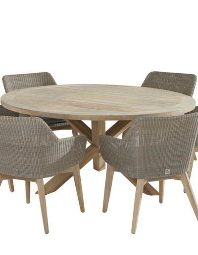 213359-90115_-Avila-dining-set-with-Louvre-round-Teak-table-160cm (Copy)